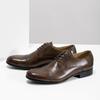 Brązowe skórzane półbuty typu angielki bata, brązowy, 826-3863 - 16