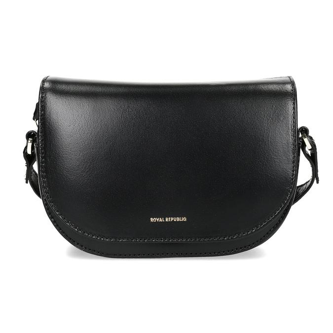 Skórzana torebka zklapą royal-republiq, czarny, 964-6084 - 26