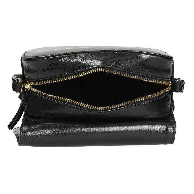Skórzana torebka zklapą royal-republiq, czarny, 964-6084 - 15