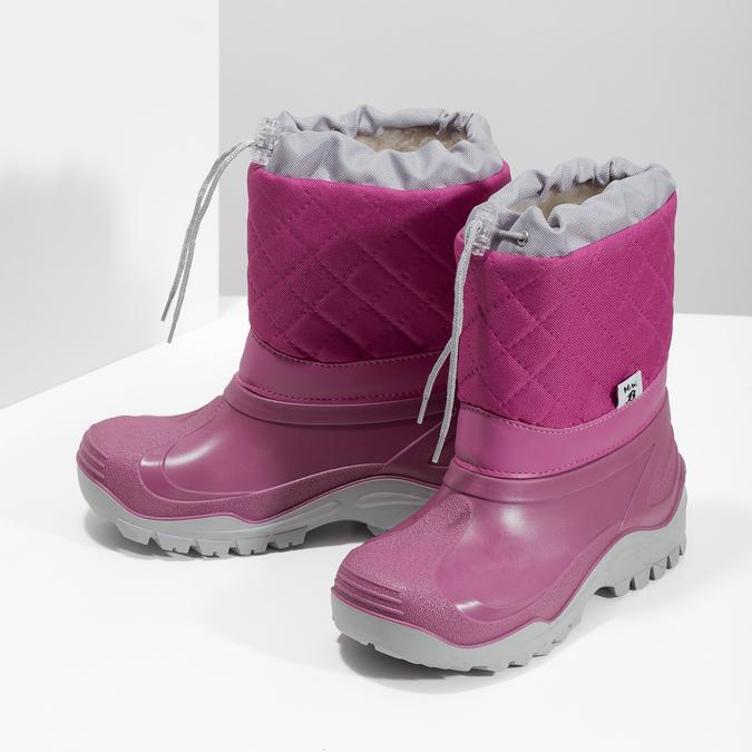 Różowe śniegowce dziewczęce mini-b, 392-5201 - 16
