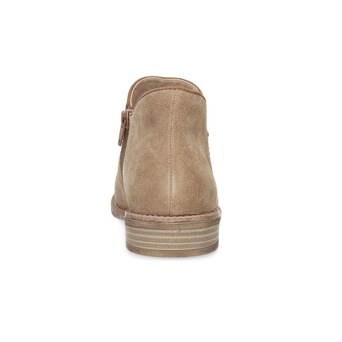 Skórzane botki bata, brązowy, 596-3685 - 15