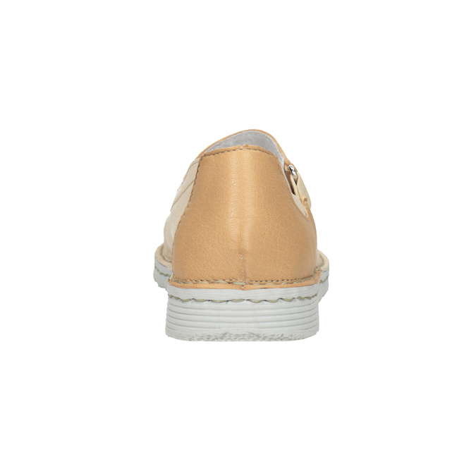 Skórzane baleriny damskie zpaskami bata, 526-8651 - 16