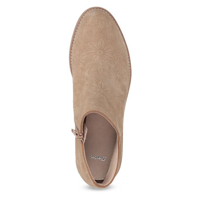 Skórzane botki bata, brązowy, 596-3685 - 17