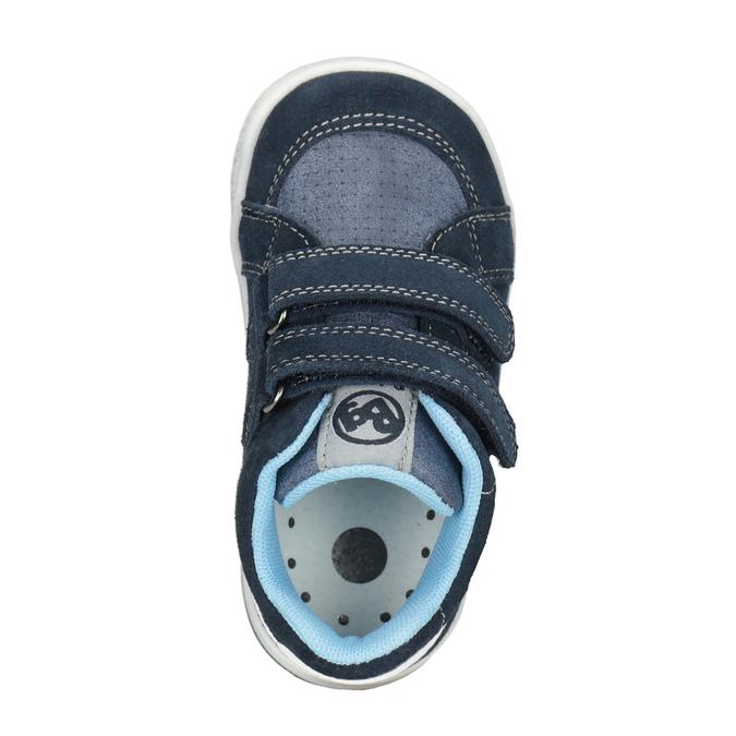 Skórzane botki dziecięce bubblegummer, niebieski, 113-9603 - 15