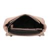 Torebka typu crossbody zpikowaną klapą bata, różowy, 961-9826 - 15