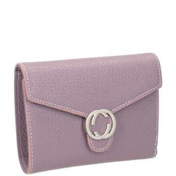 Różowy portfel zmetalową klamrą bata, 941-9213 - 13