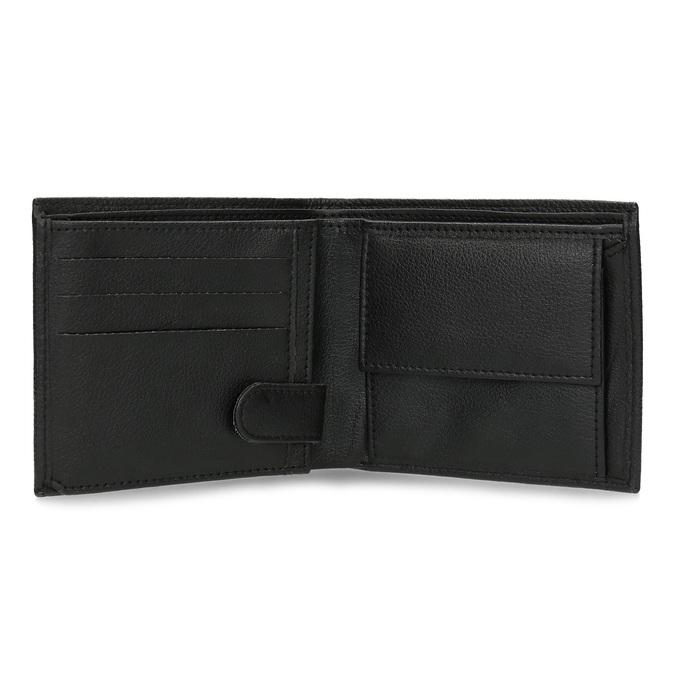 Skórzany portfel męski zrowkami bata, czarny, 944-6206 - 15