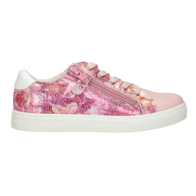 Różowe trampki dziewczęce zzamkami błyskawicznymi mini-b, 321-5219 - 26