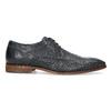 Granatowe skórzane półbuty zfakturą bata, niebieski, 826-9825 - 19