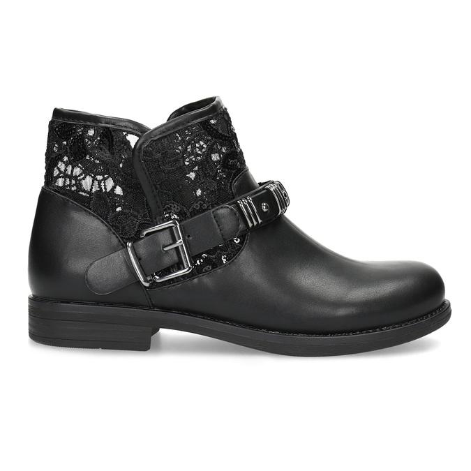 Czarne kozaki zkoronką bata, czarny, 591-6628 - 19