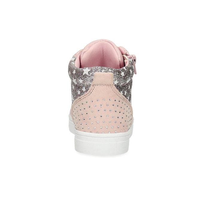 Różowe trampki za kostkę zkryształkami mini-b, różowy, 229-5107 - 15