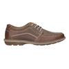 Brązowe skórzane półbuty męskie bata, brązowy, 826-4654 - 16