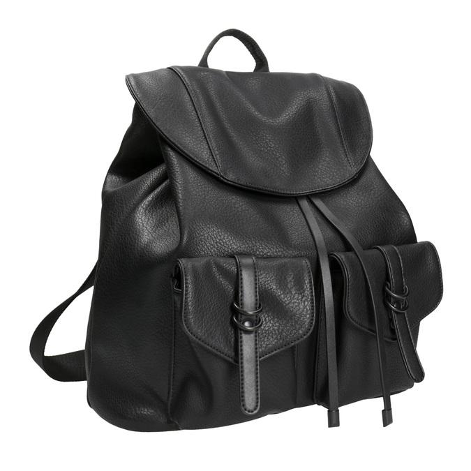 Czarny plecak damski bata, czarny, 961-6833 - 13