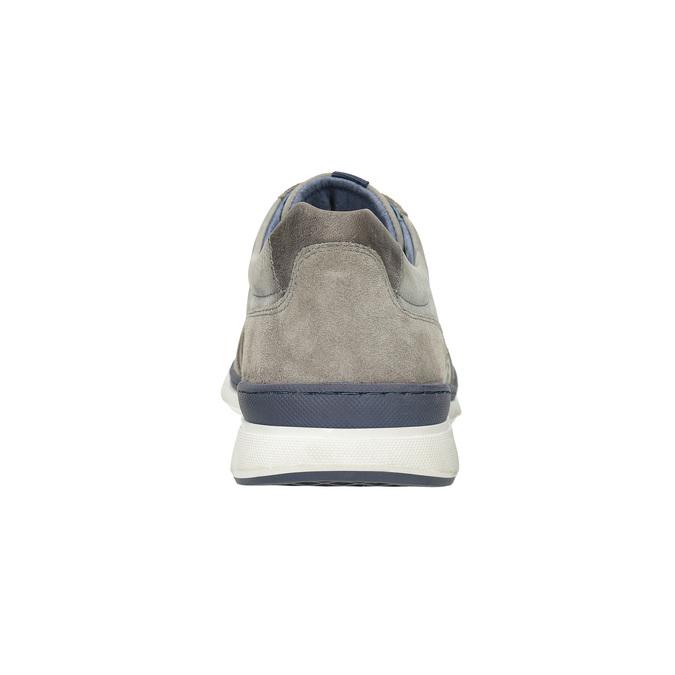 Skórzane trampki męskie bata, szary, 846-2639 - 15