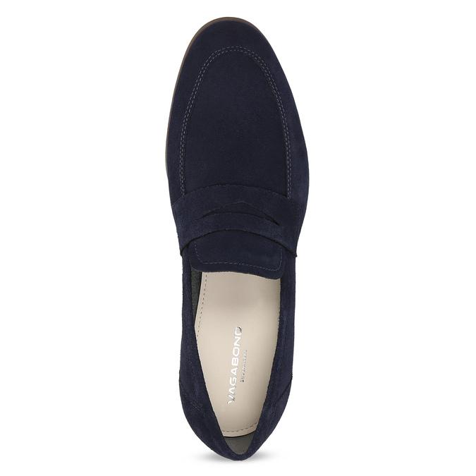Granatowe mokasyny wstylu penny loafersów vagabond, niebieski, 813-9053 - 17