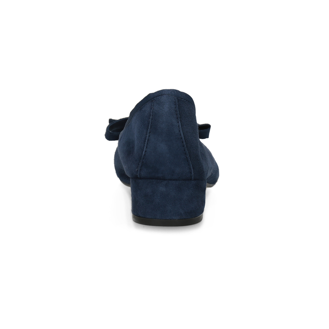 Niebieskie zamszowe baleriny bata, niebieski, 523-9420 - 15
