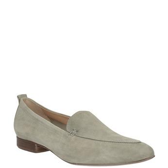 Zamszowe mokasyny damskie bata, beżowy, 516-8618 - 13