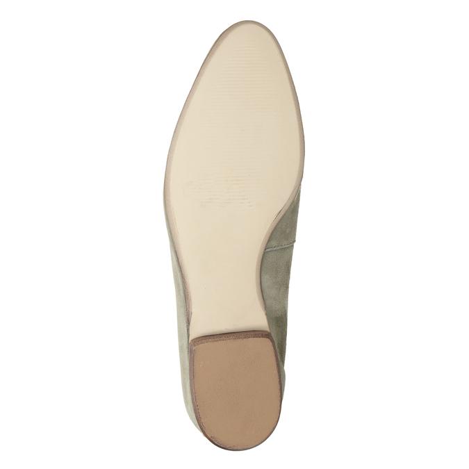 Zamszowe mokasyny damskie bata, beżowy, 516-8618 - 19