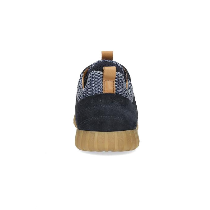 Granatowe zamszowe trampki męskie bata, 843-9634 - 15