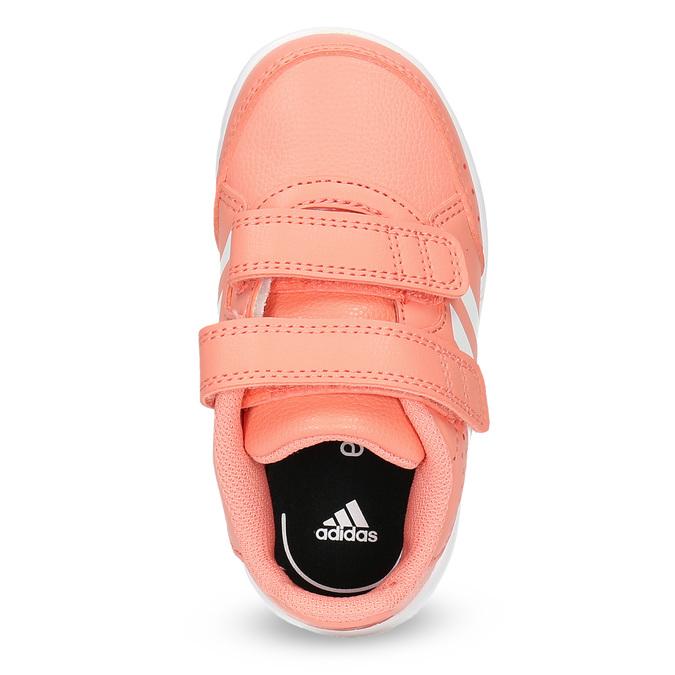 Różowe trampki dziewczęce na rzepy adidas, różowy, 101-5151 - 17