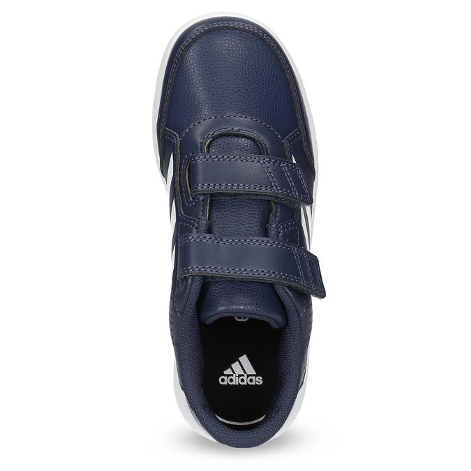 Granatowe trampki dziecięce na rzepy adidas, niebieski, 301-9151 - 17