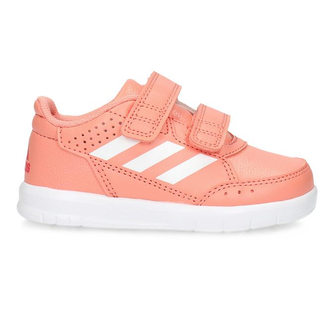 Różowe trampki dziewczęce na rzepy adidas, różowy, 101-5151 - 19