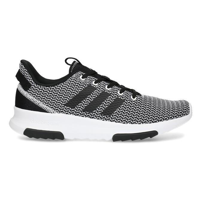 Czarno-białe trampki zwzorzystej dzianiny adidas, czarny, 809-1101 - 19