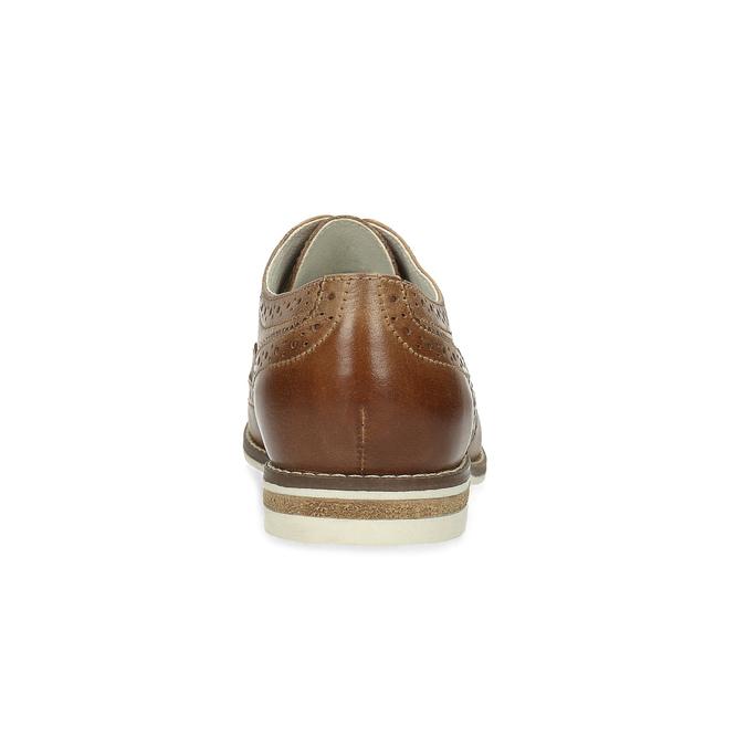 Brązowe skórzane półbuty damskie bata, brązowy, 526-3649 - 15