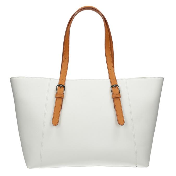 Kremowa torebka zdekoracyjnymi zamkami błyskawicznymi bata, biały, 961-1840 - 16