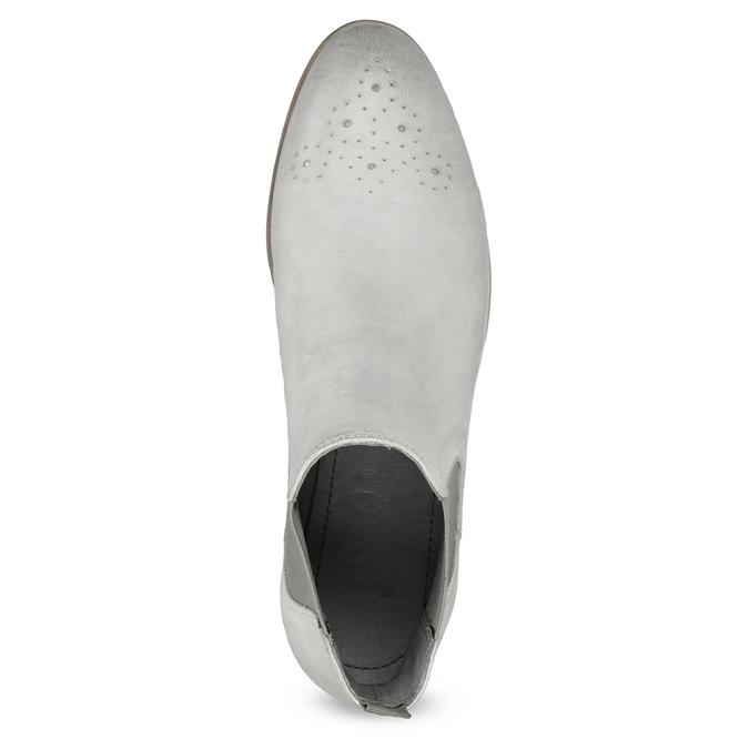 Skórzane obuwie damskie typu chelsea bata, szary, 596-1684 - 17