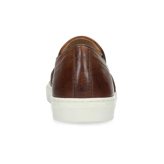 Skórzane slip-on męskie bata, brązowy, 836-4601 - 15