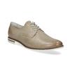 Skórzane półbuty damskie bata, beżowy, 526-8650 - 13