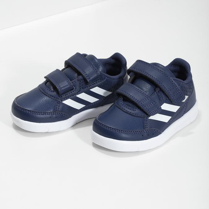 Granatowe trampki na rzepy adidas, niebieski, 101-9151 - 16