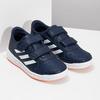 Granatowe trampki dziecięce na rzepy adidas, niebieski, 301-9151 - 26
