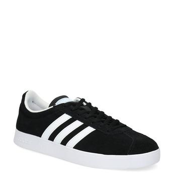 Czarne zamszowe trampki damskie adidas, czarny, 503-6379 - 13