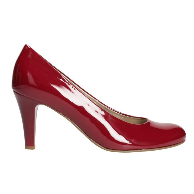 Czerwone czółenka damskie gabor, czerwony, 721-5064 - 26