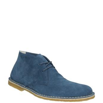 Granatowe skórzane buty pustynne bata, 823-9622 - 13