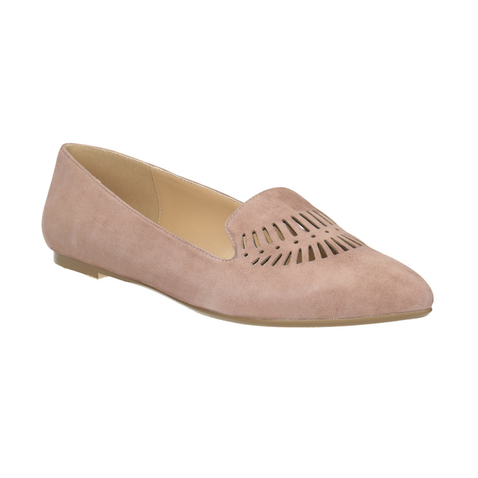 Skórzane loafersy damskie bata, 523-5659 - 13