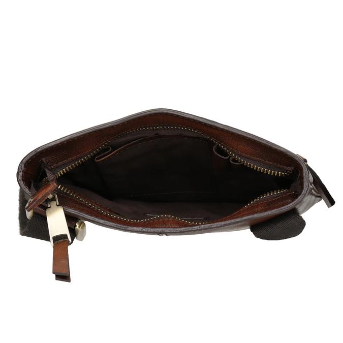 Skórzana torba męska typu crossbody bata, brązowy, 964-3284 - 15