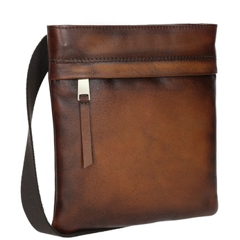 Skórzana torba męska typu crossbody bata, brązowy, 964-3284 - 13