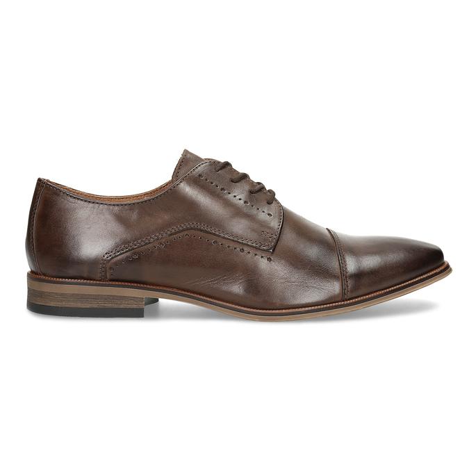 Skórzane półbuty męskie ze zdobieniami bata, brązowy, 826-4927 - 19
