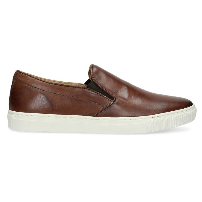Skórzane slip-on męskie bata, brązowy, 836-4601 - 19