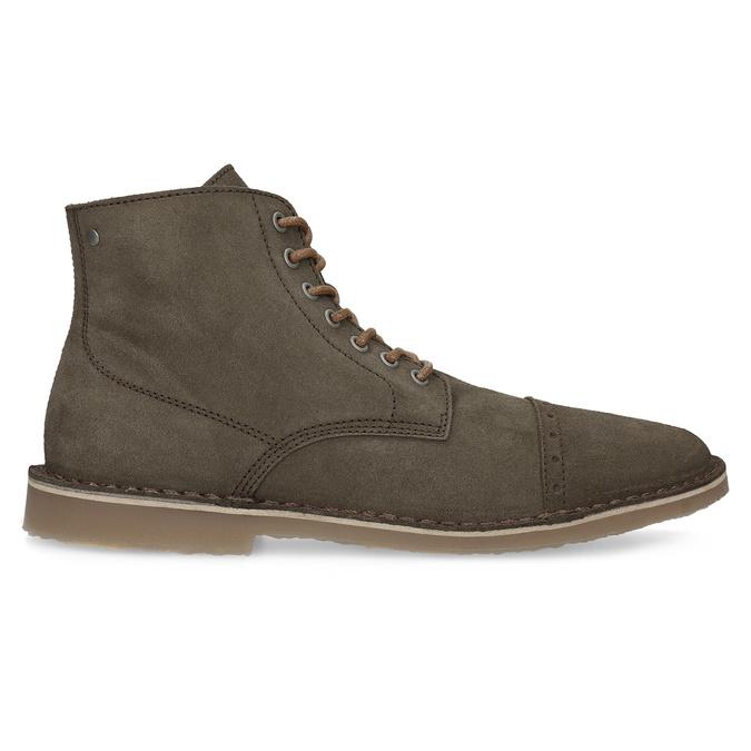 Zamszowe obuwie za kostkę bata, khaki, 823-7629 - 19