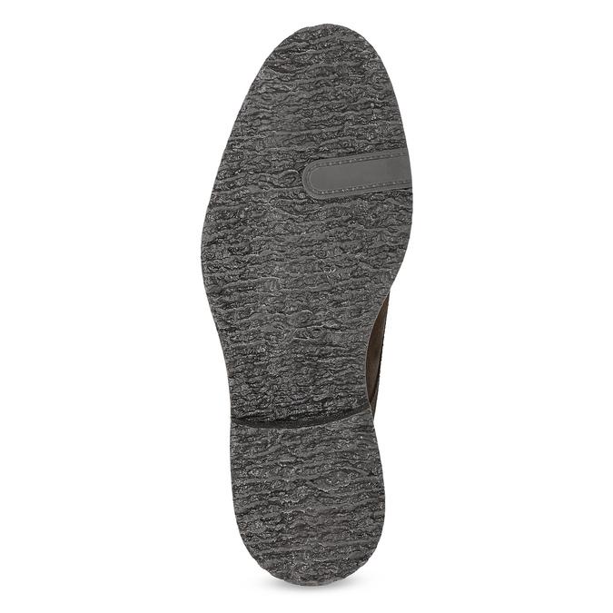 Skórzane obuwie wstylu chukka bata, brązowy, 823-4627 - 18