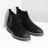 Zamszowe buty typu chelsea bata, czarny, 823-6628 - 26