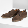 Brązowe zamszowe półbuty bata, brązowy, 823-4626 - 16