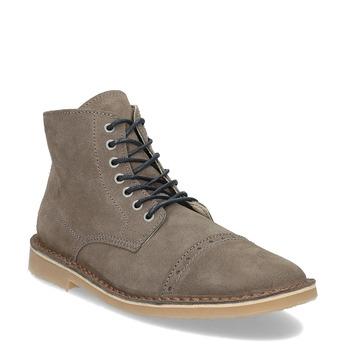 Skórzane buty męskie za kostkę bata, brązowy, 823-8629 - 13