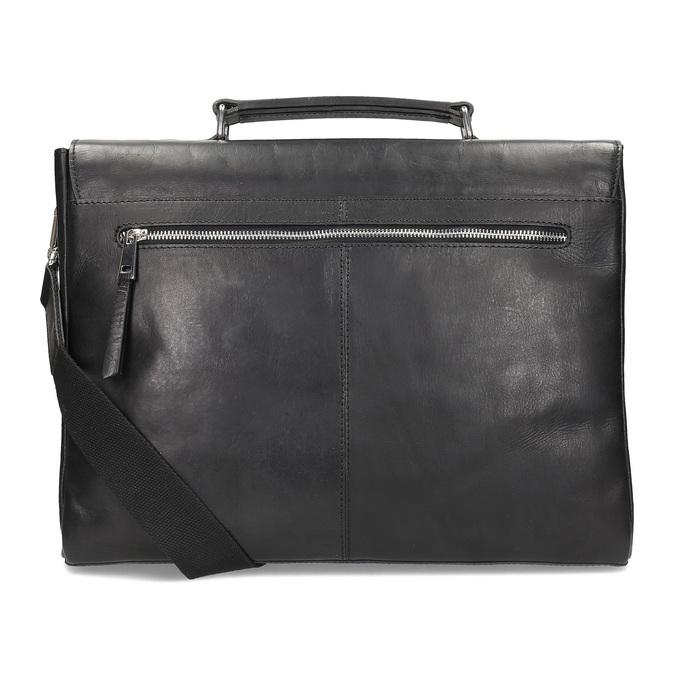 Skórzana teczka męska bata, czarny, 964-6289 - 16