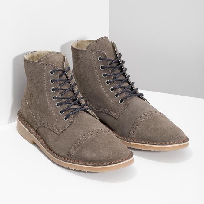 Skórzane buty męskie za kostkę bata, brązowy, 823-8629 - 26