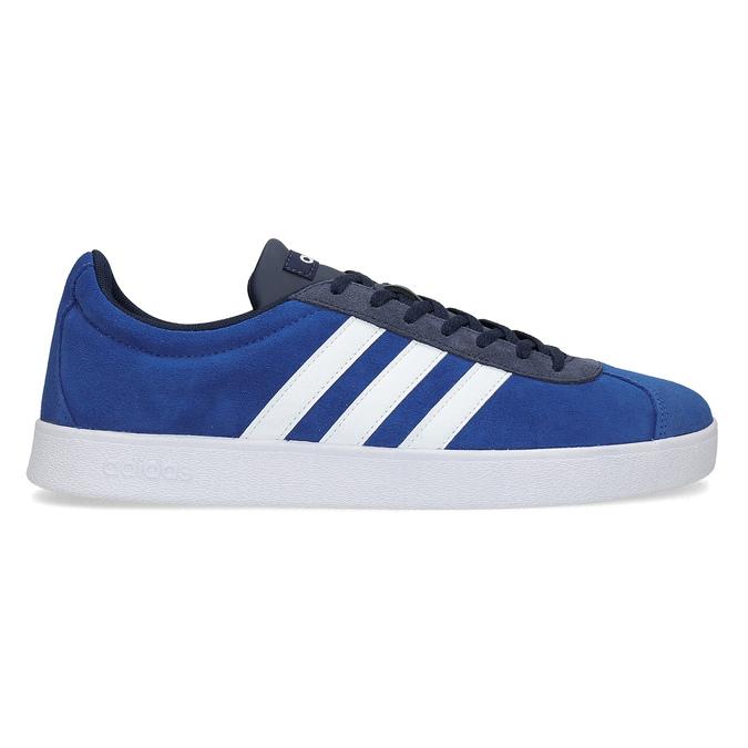 Niebieskie zamszowe trampki adidas, niebieski, 803-9979 - 19